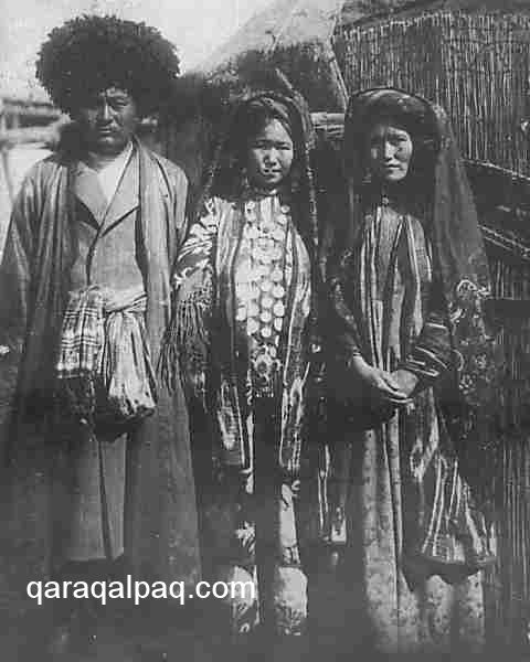 Qaraqalpaq man with ma'deli belbew in 1928
