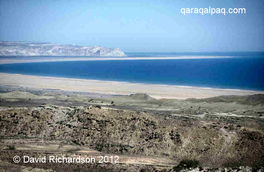 The empty Aral Sea